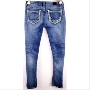 Daytrip Women Sz 28 Denim Blue Jeans Aries Skinny